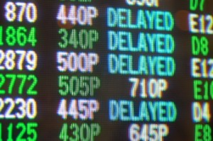 flight is delayed or cancelled