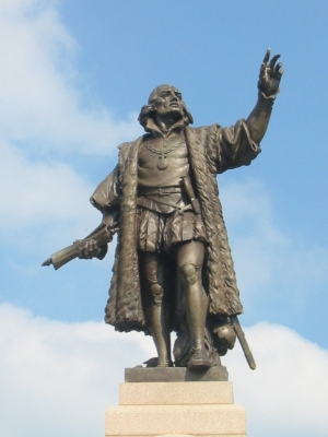 Statue of Christopher Columbus in Grant Park, Chicago