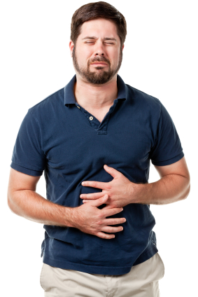 A man with heartburn