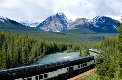 Take a train through the Rockies