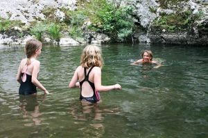 The wild swimming thing… a photo of people wild swimming in spain