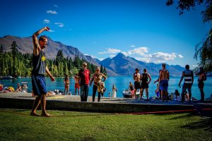 Slack Lining Our travel insurance will cover it.