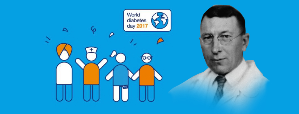Ever heard of Frederick Banting? The Canadian medical scientist was born on 14th November 1891 - and he's the reason World Diabetes Day is celebrated on the same date every year. Find out what he did, how it changed history and the strong message that World Diabetes Day has for its global audience of one billion people.