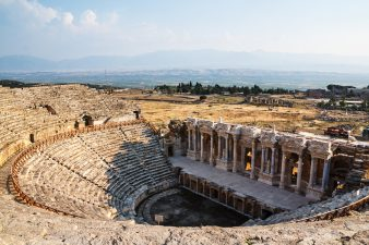 Ruins of the ancient city Hierapolis in Pamukkale Turkey