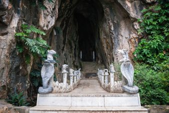 Buddhist hell is a scary place, as this literal hell hole within the Marble Mountains of Vietnam makes abundantly clear. Just outside Da Nang,