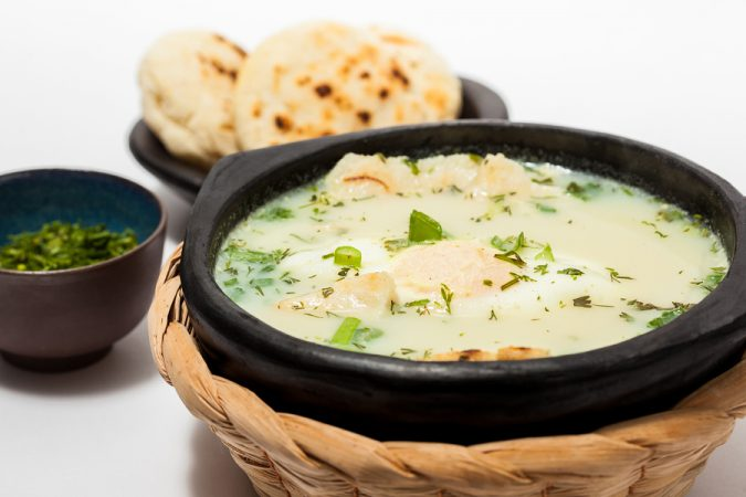 Nicknamed 'beggar's soup', don't let the unfortunate alias deter you. This meal is meat and fish free, hence the nickname, and is made up of mashed bread with olive oil, coriander, salt, poached eggs and water,